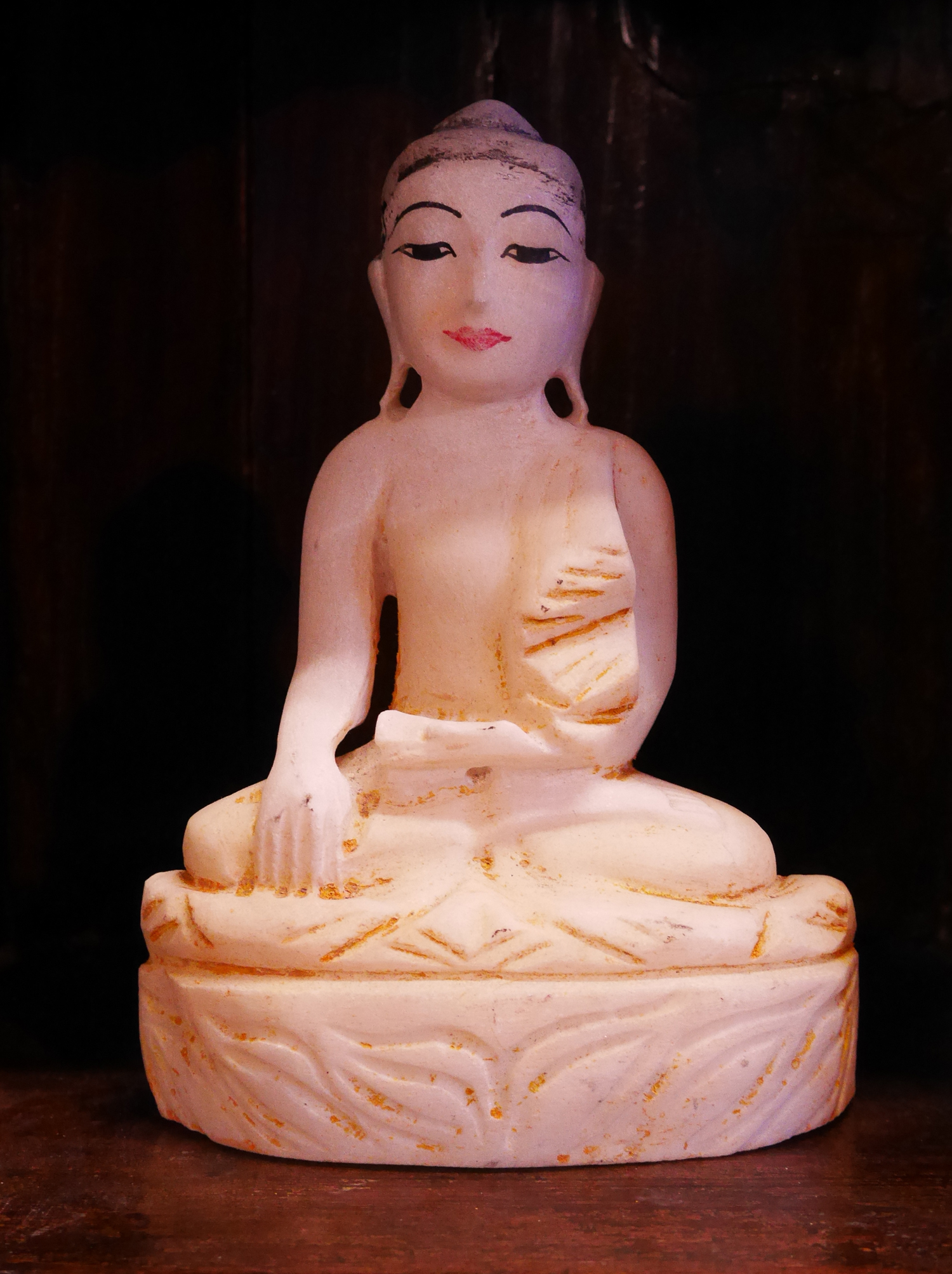 I love these alabaster buddhas from burma. Limited availability.