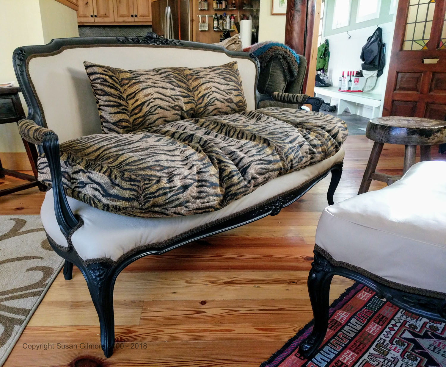 Upholstery and pillows by Susan Gilmore