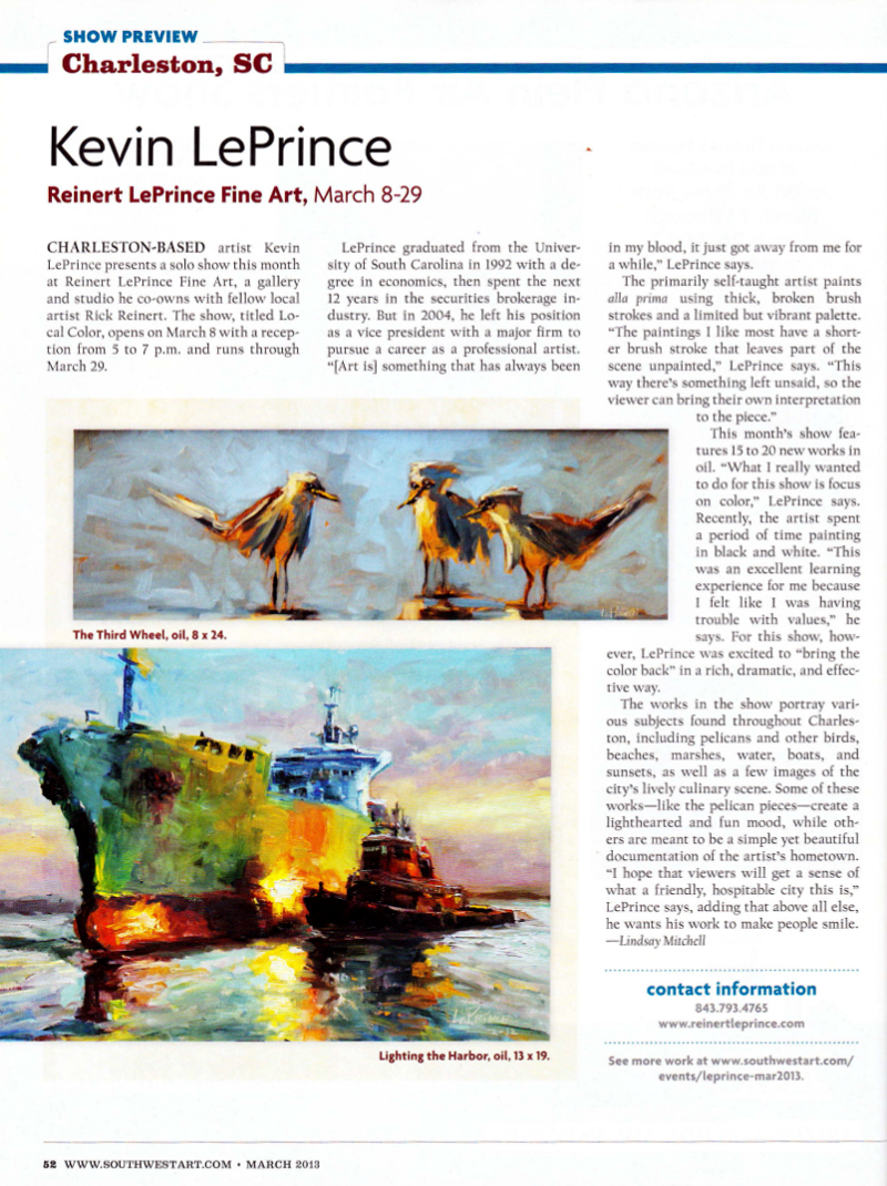 Southwest Art Magazine | March 2013 page 52