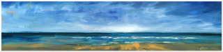 """6""""x24"""" framed to 9""""x27"""" 