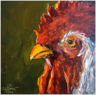 Roo Three | 8x8 Oil framed to 11x11 | $475