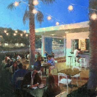 """Americano"" by Mark Bailey | 30x30 | $3,700"