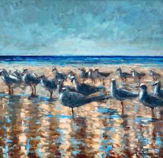 30x30 Oil on Canvas by Kevin LePrince   $3,700