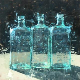 36x36 oil by Mark Bailey | $4,900