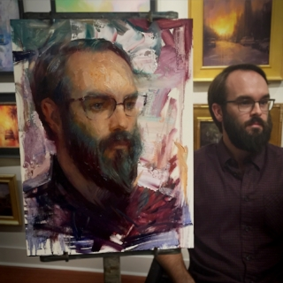 """Will"" |16x12 Oil | Painted on location at LePrince Fine Art by Ignat Ignatov."