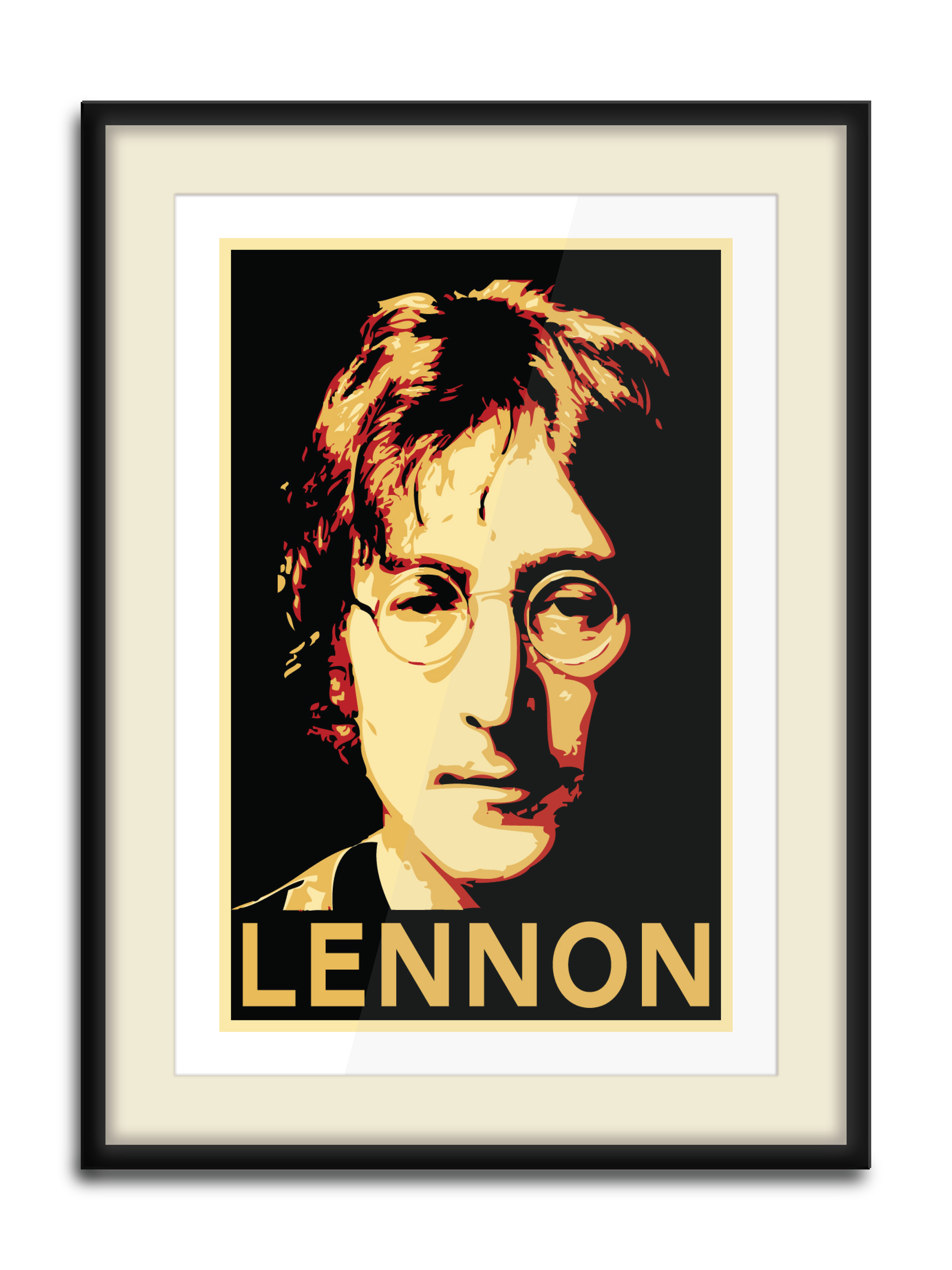 """""""John Print""""  4 Color Hand Pulled Screen Print  Print Size: 11"""" x 17""""  Edition of 10"""