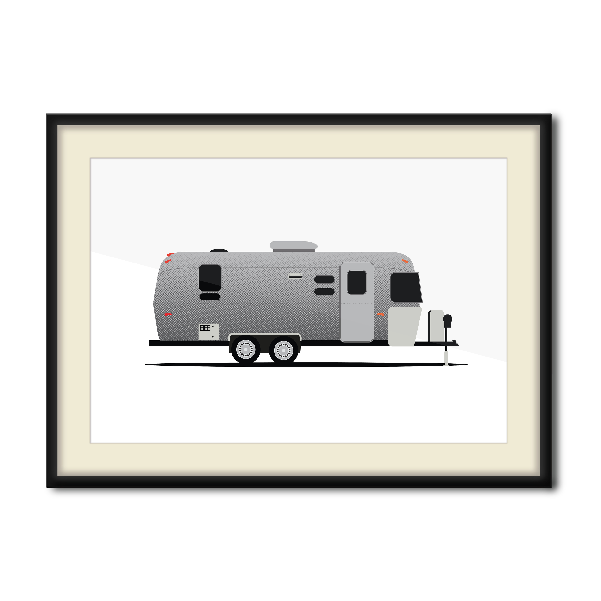 """""""Airstream Dream""""  5 Color Hand Pulled Screen Print  Print Size: 11"""" x 17""""  Edition of 12"""
