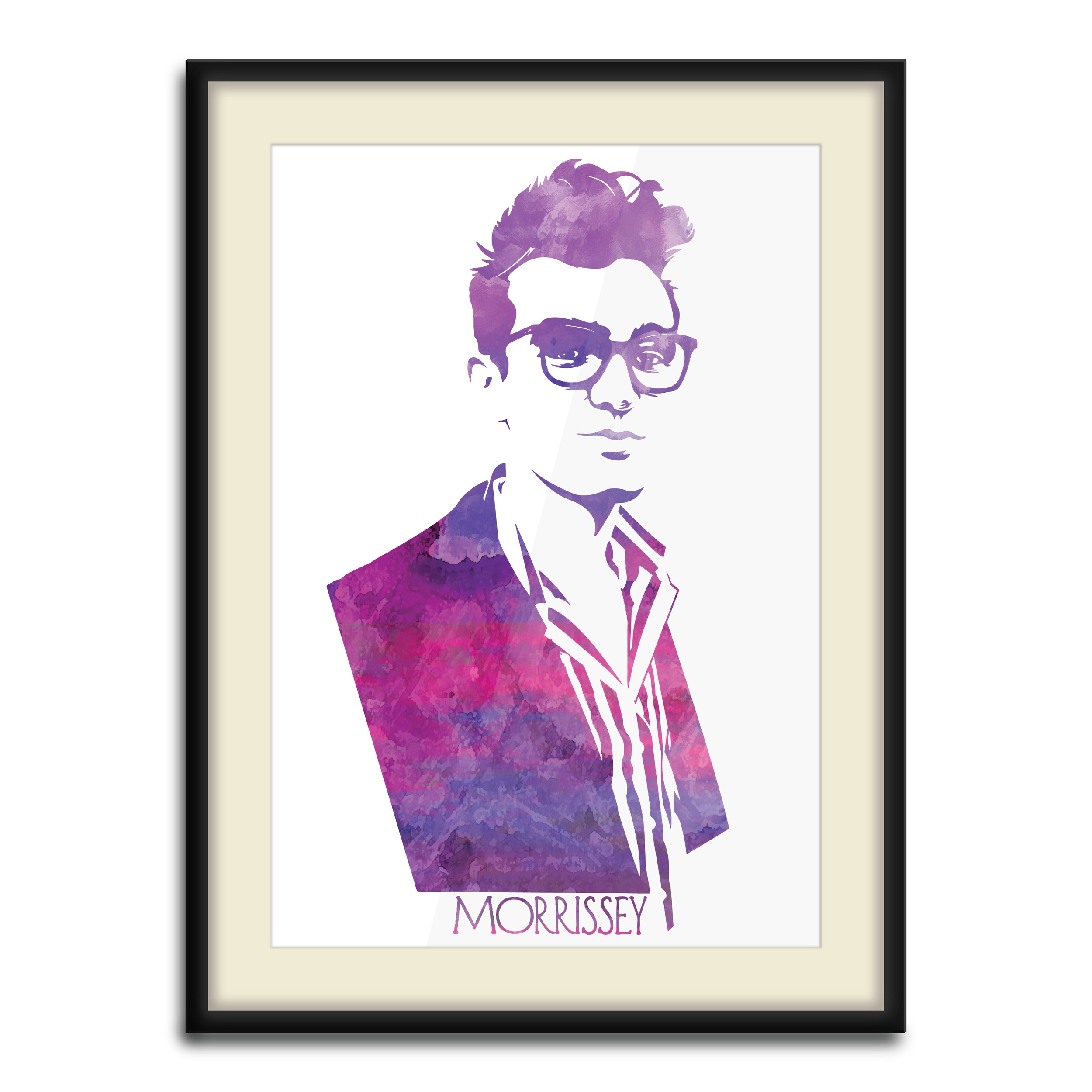 """""""Morrissey Monotype""""  5 Color Hand Pulled Screen Print Monotype"""