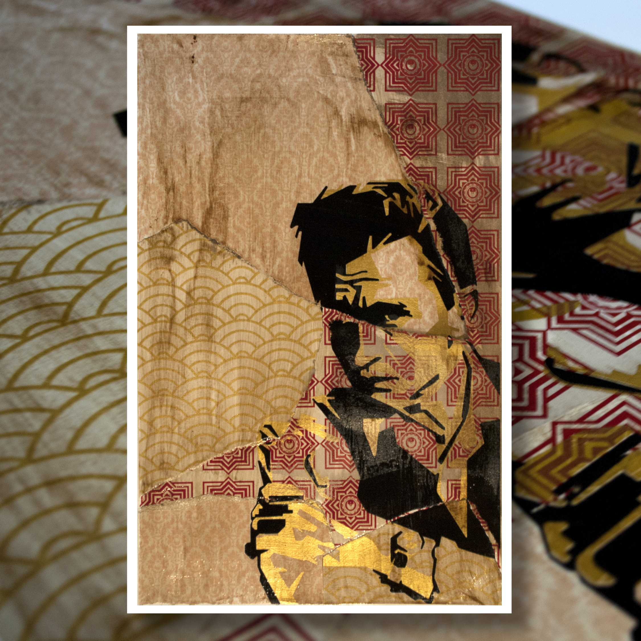 """"""" Johnny Mess""""  4 Color Hand Pulled Screen Print  Print Size : 11"""" x 17""""  1 of 1"""