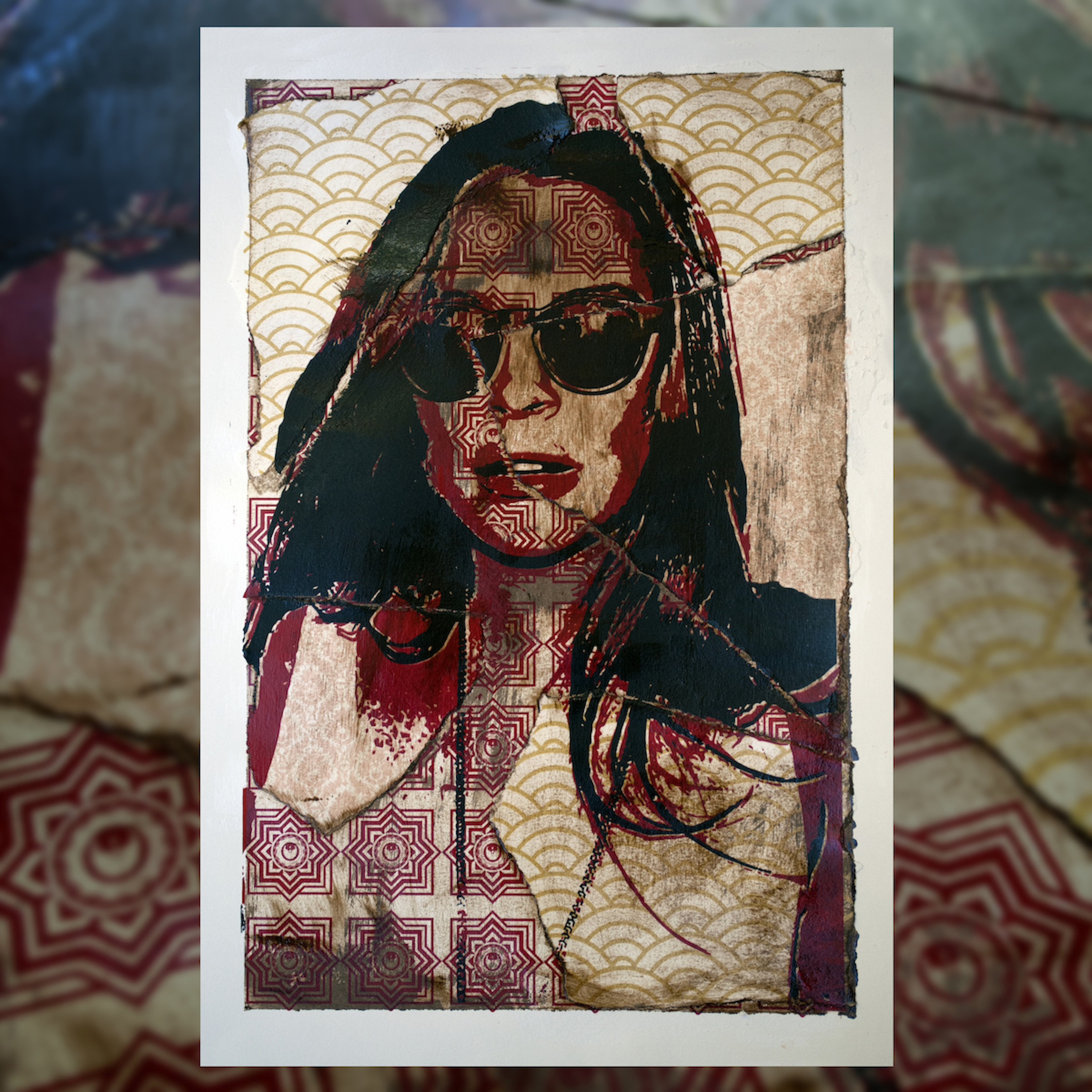 """""""Lindsay Mess""""  4 Color Hand Pulled Screen Print  Print Size : 11"""" x 17""""  1 of 1"""