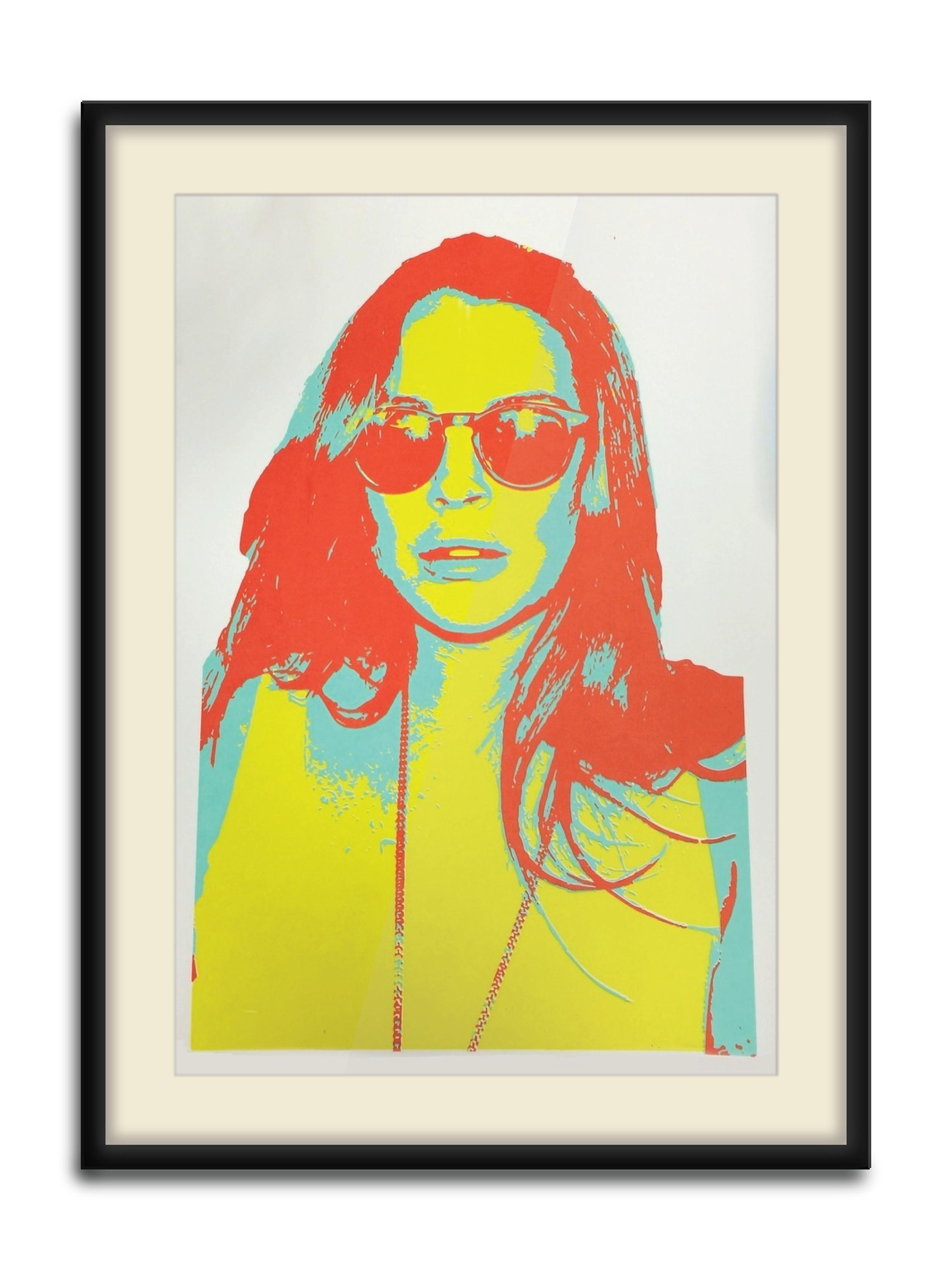 """ La Loca Lohan II""  3 Color Hand Pulled Screen Print  Print Size : 11"" x 17""  1 of 10"