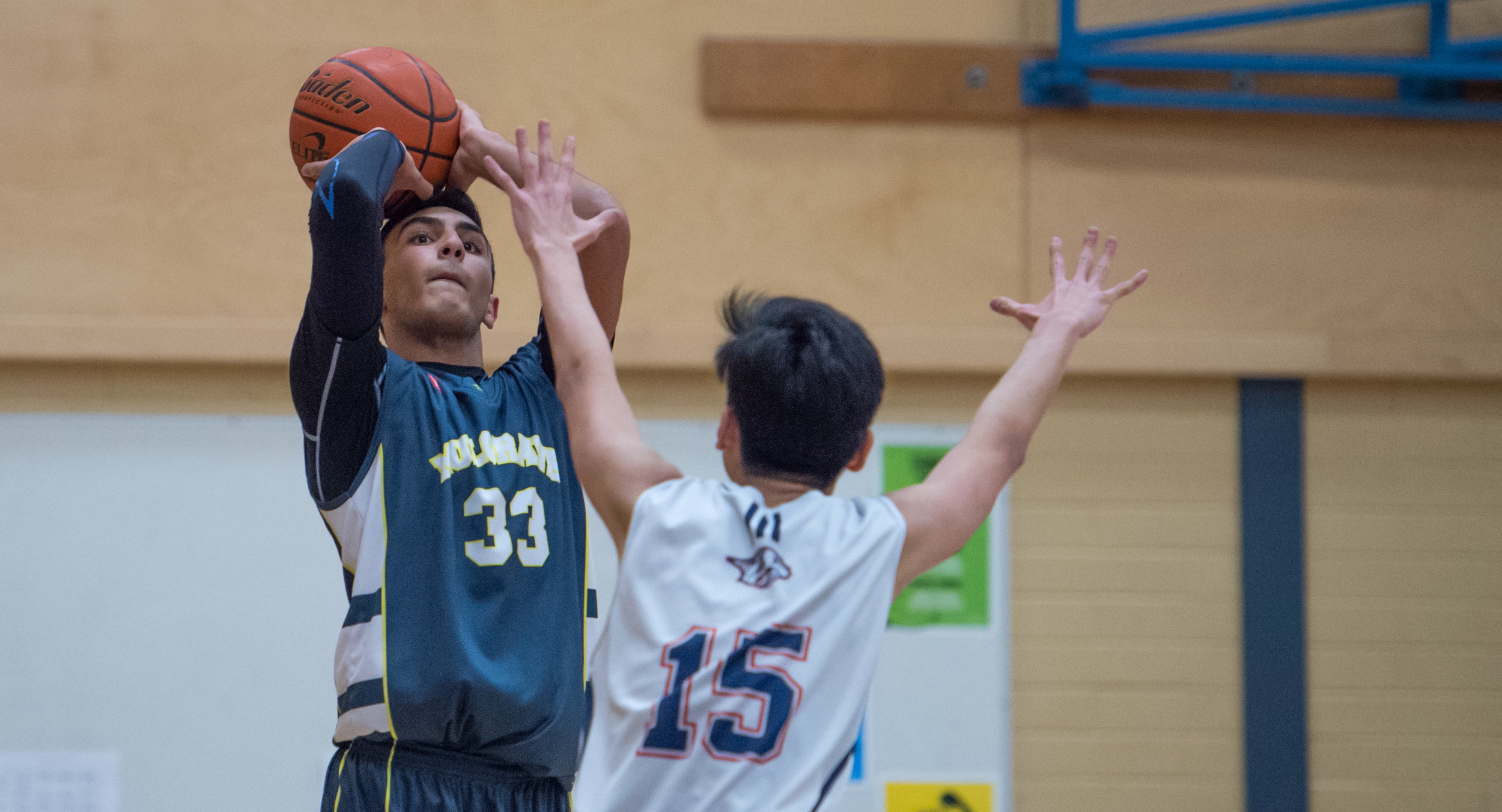 Mulgrave Titans got out to an early start and never looked back.  Behbod Panahandeh drops a baseline jumper en route to the Titans victory.