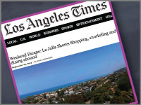 The LA Times mentions Cusp in their La Jolla travel story.