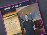 Chef Graves is added to the Chefs Hall of Fame by SDH&G.