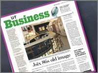 Jsix makes the U-T's business section cover.