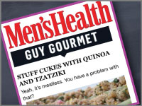 Cusp's meatless recipe is feature on Men's Health.
