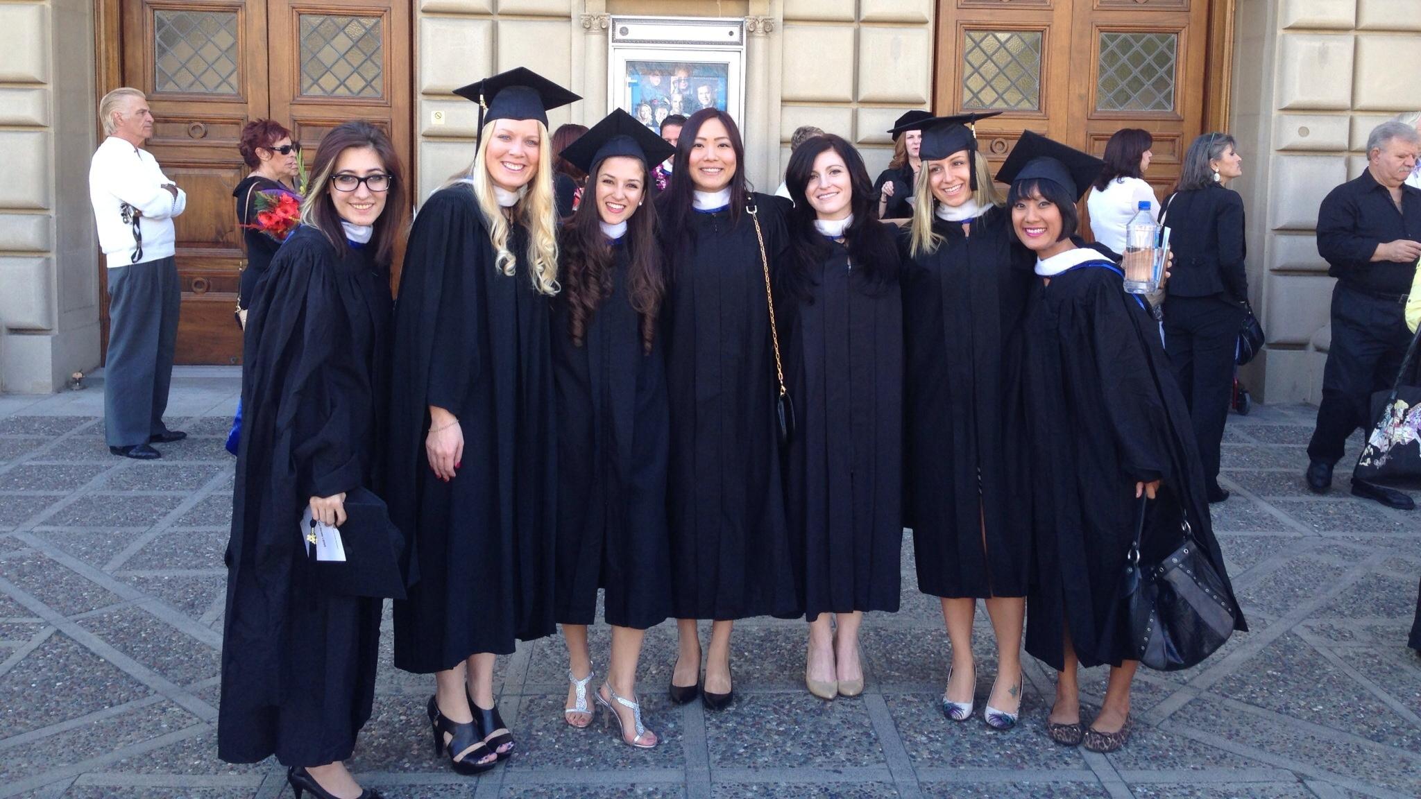 L to R: Rachel Liptak, Audrey Milburn, Nancy Flores, Ashley Hahn, Michelle Dastmalchi, Kaylin Zabienski, Me