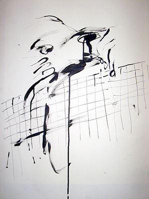 Face #41 .2006.39.3 x 54.5 cm.Black ink on paper.