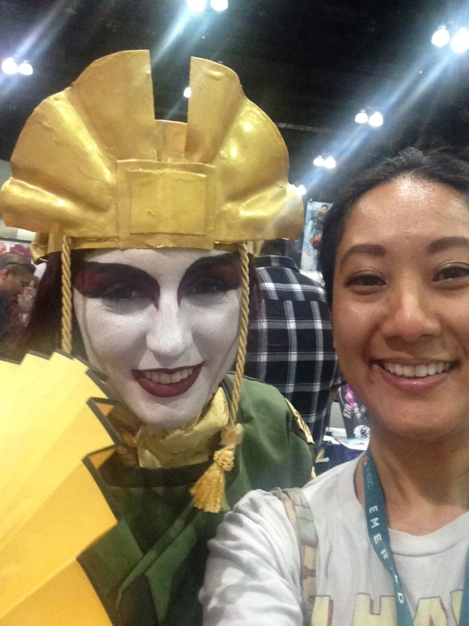 Selfie with Avatar Kyoshi & me with tears of joy LOL