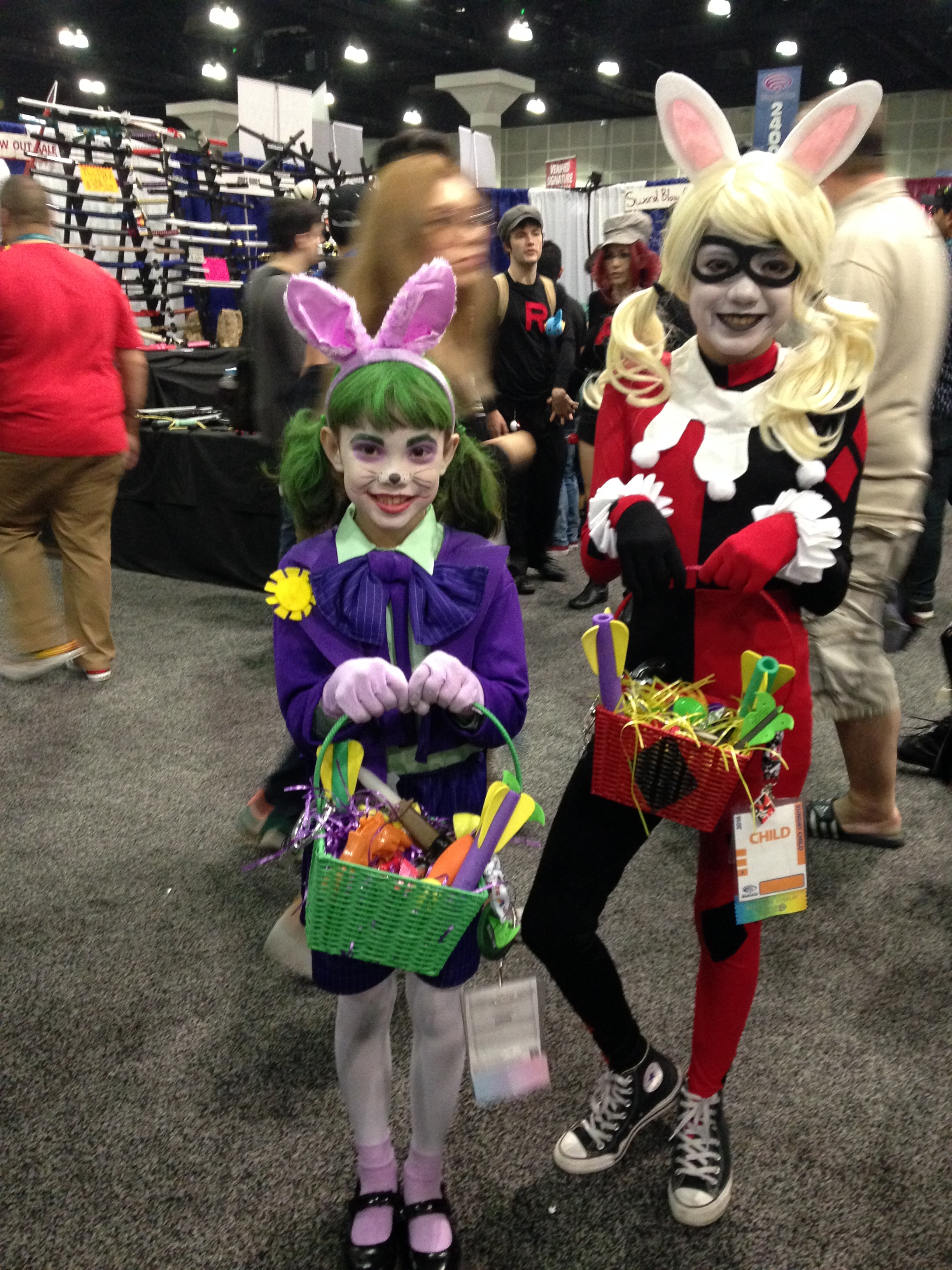 Easter cosplay for Joker and Harley Quinn