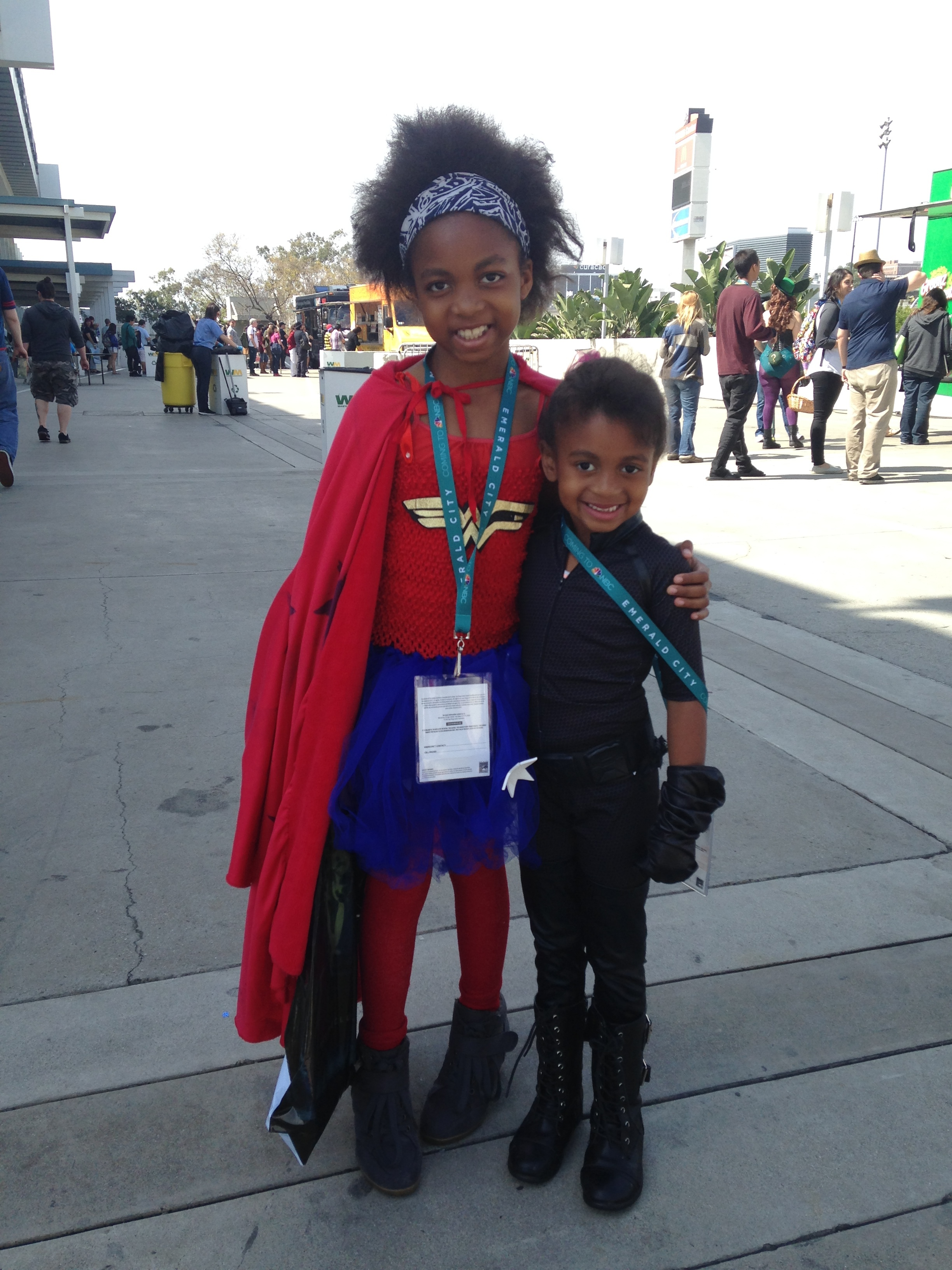 Wonderwoman and (?)Black Widow Children's Cosplay