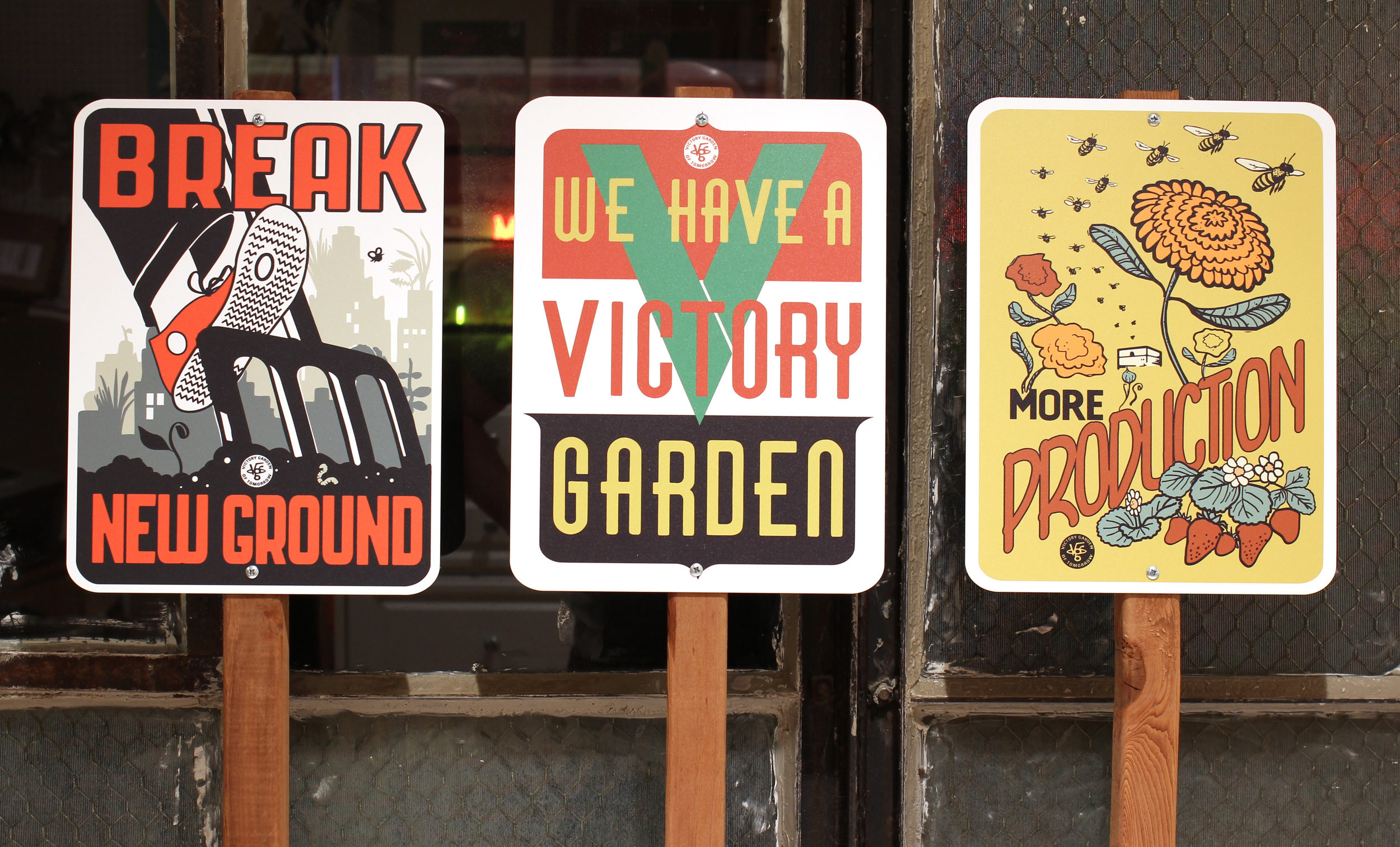 Preview of my New Garden Signs. These weather-proof durable gems are similar to, but better than, those old-time 1940's proud gardeners used to plant in there plots. Available soon!