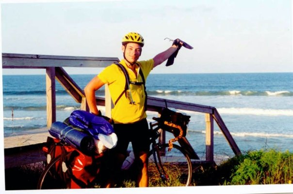 I rode my bike along the southeastern coast. I'm here in St. Augustine, Florida