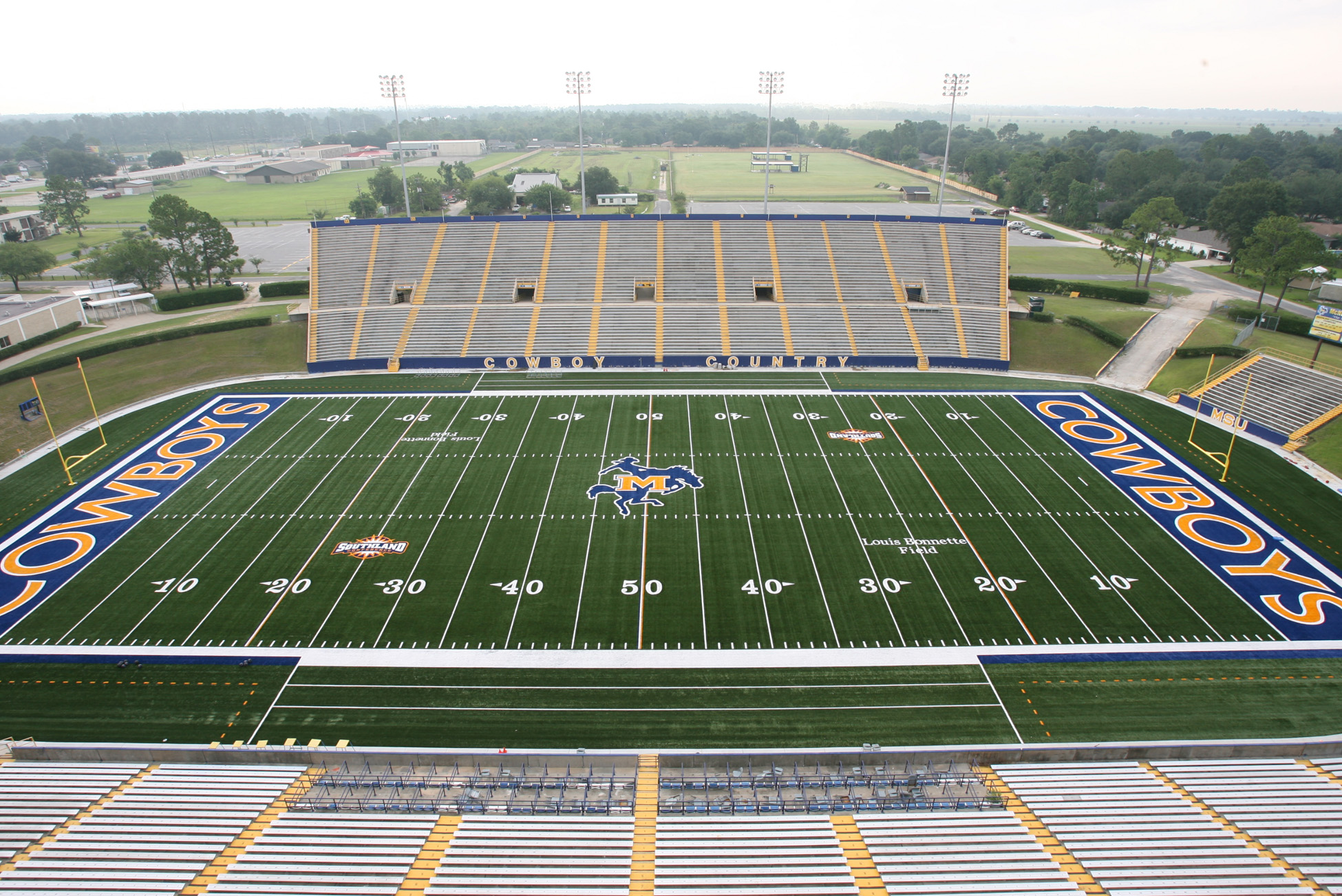 The 16,000-seat Cowboy Stadium at McNeese State University