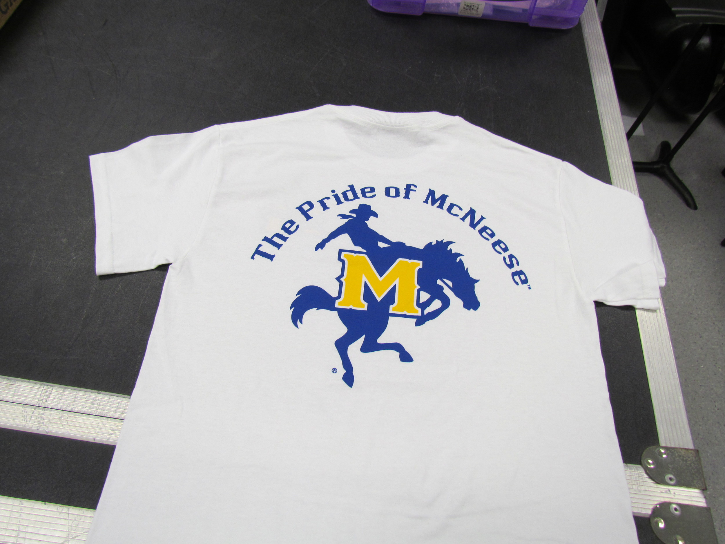 White Pride of McNeese T-Shirt (back)