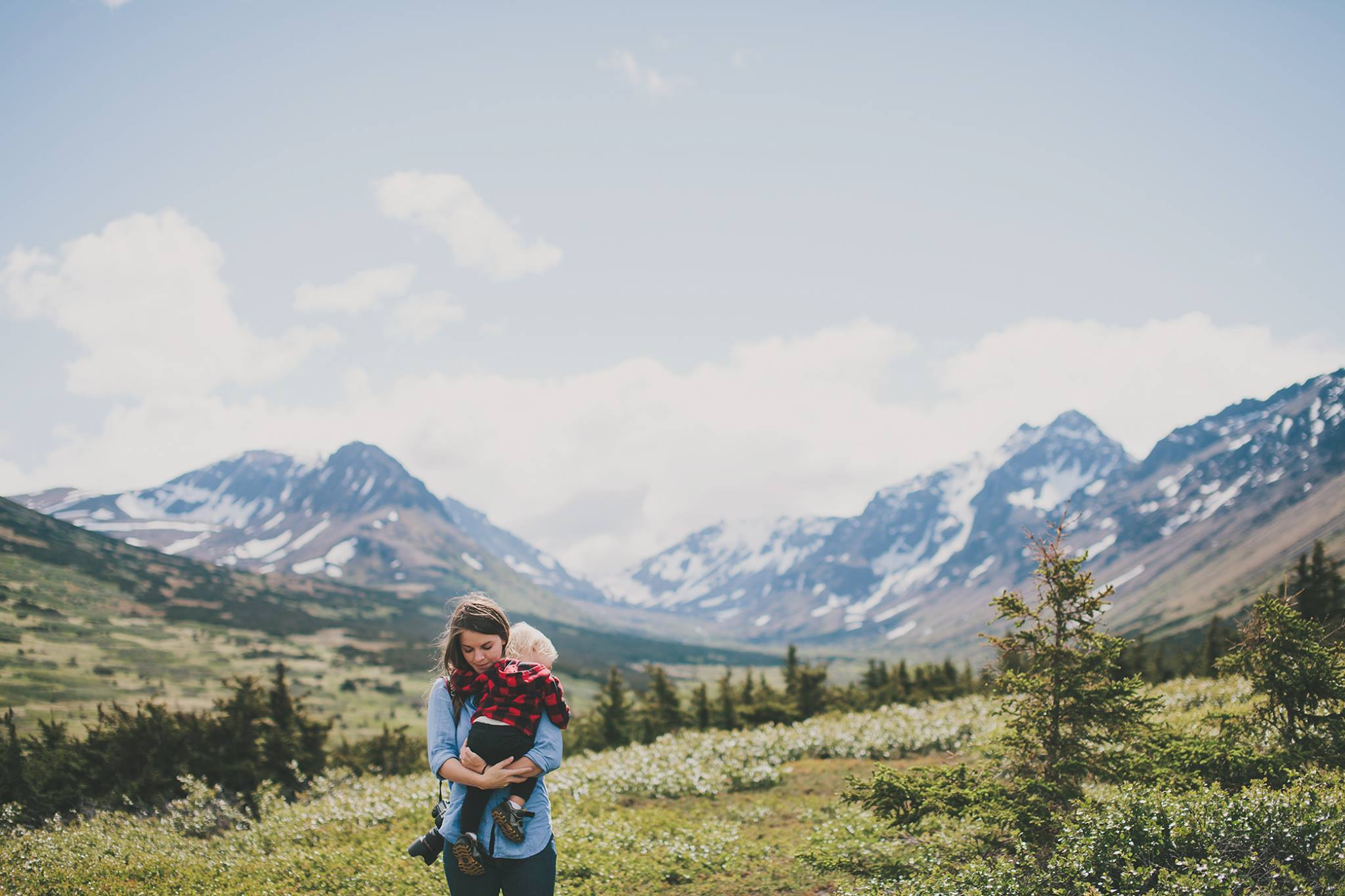Photo by Grace Adams of Jess Hunter, Anchorage Alaska wedding & elopement photographer, Chugach mountain range, Anchorage mountain portrait sesssion, adventure photography, elopement locations in Alaska