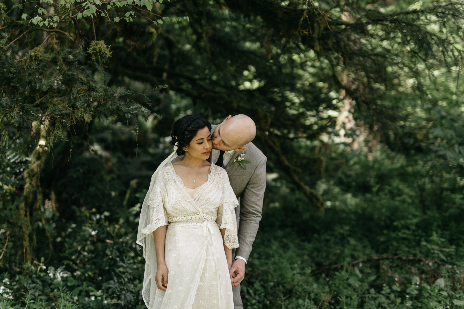 photography by Jess Hunter, intimate Portland wedding photographer, botanical inspired wedding in Portland, OR at a pioneer church, vintage lace wedding dress, hipster Portland wedding, elopement in the forests of Oregon, forest bride, vintage bridal style, Jessica L Hunter, Seattle elopement photographer, PDX wedding, vintage Pacific Northwest wedding, artistic wedding photography, emotive wedding photographer, florals by Ponderosa and Thyme