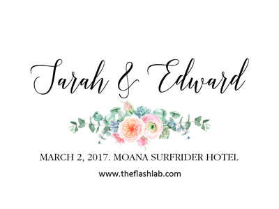 Personalized Logo - Choose from one of our in house designed logos an we will personalize it with your name(s) and event date.