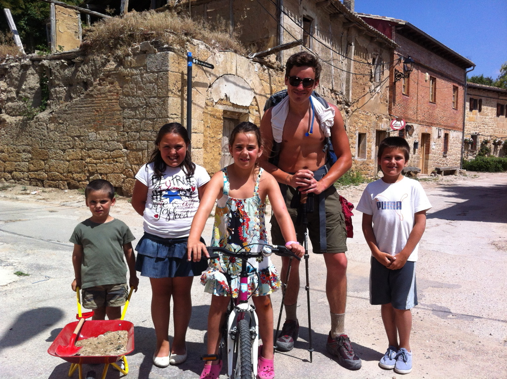 Castro Jeriz, Spain. Josh and the human GPS gang. 2013