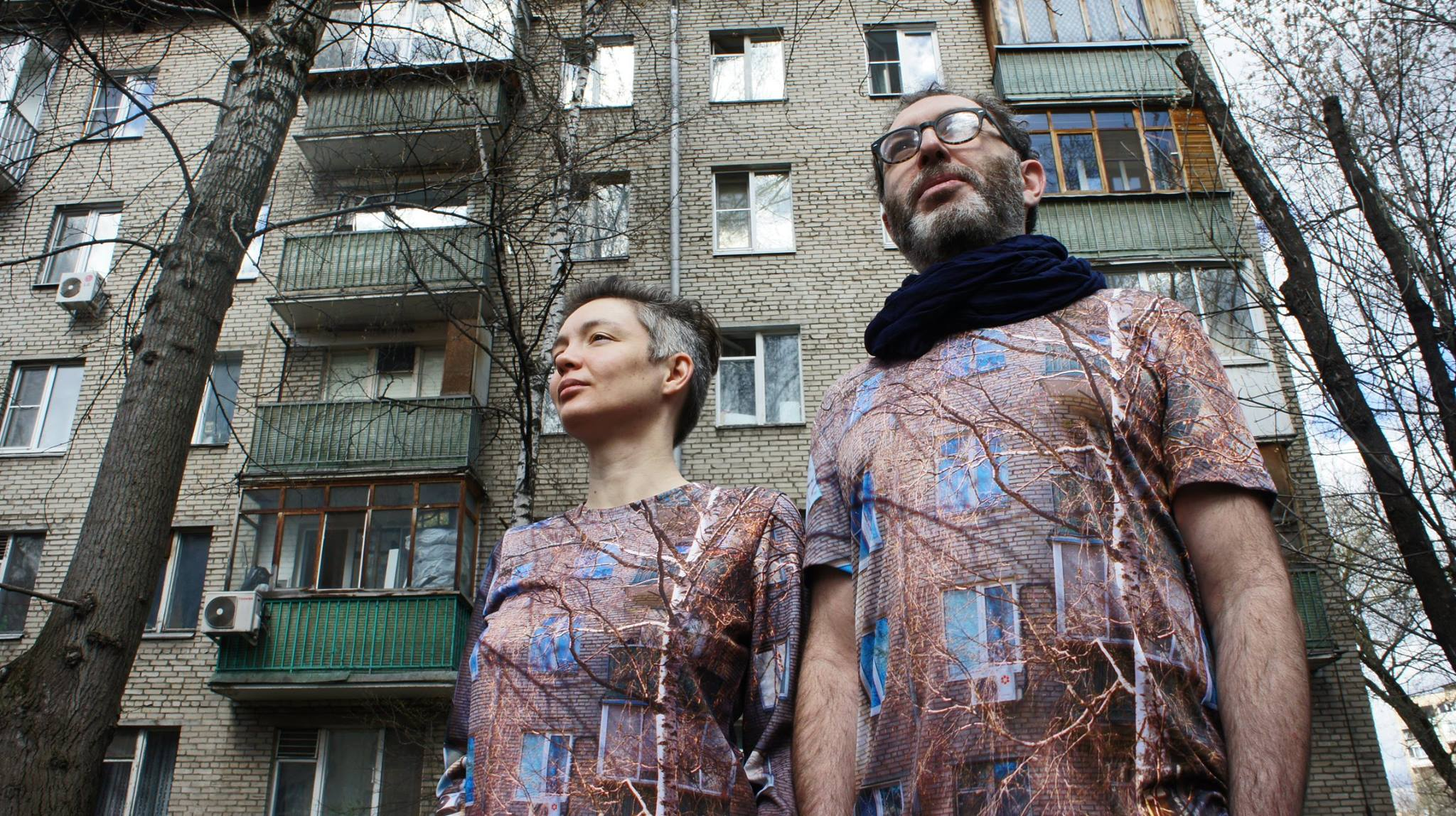 "Artists and Activists MishMash create their own protest-wear, Moscow 2017. "" Instructions : photograph your house, find a printers that 'prints on t-shirts' with full coverage. Sometimes it is called '3D t-shirts'. Upload your picture and place your order. And that's it! You have something to wear!""  #мынесносны"