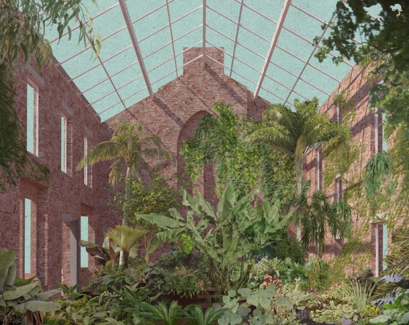 Assemble Studio's winning designs for the rehabilitation of Granby Four Streets through sensitive renovation - interior - creating a garden out of ruins.