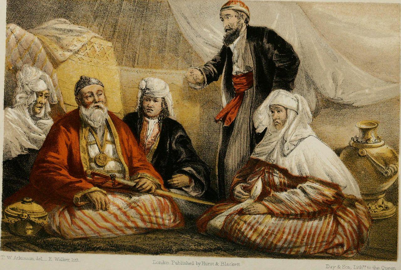 Atkinson's portrait of Sultan Souk, a Kazakh leader
