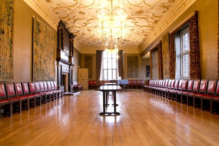 The Great Chamber, The Charterhouse, venue for 2017 Dinner & Ceremony. Elizabeth I and James I both held court here.