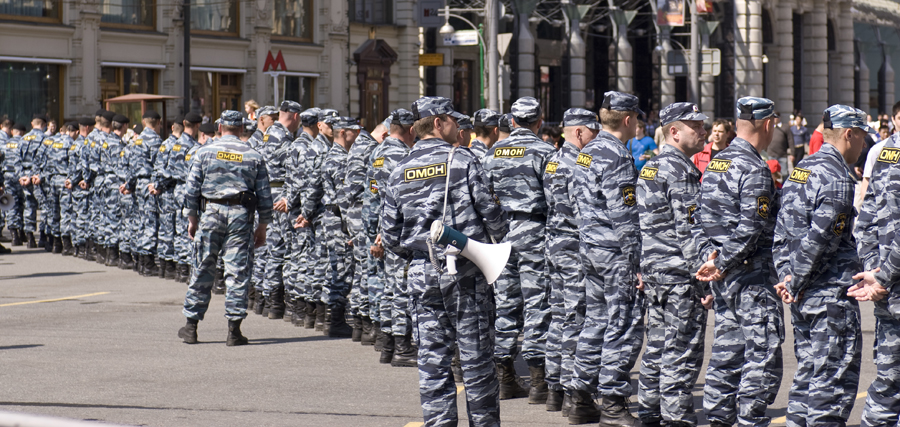 Russian riot police in Moscow. Image credit: Aleksey Toritsyn