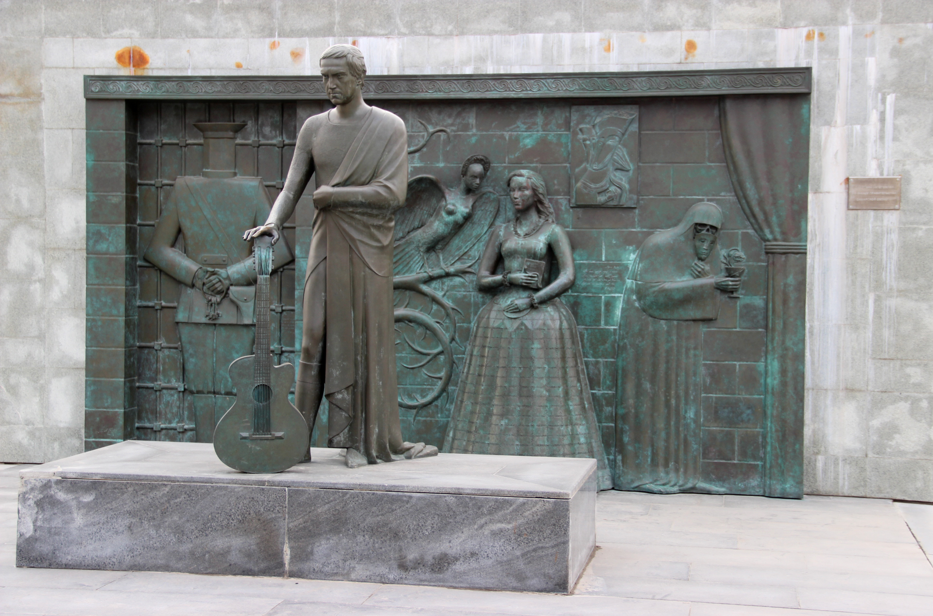 Vysotsky memorial in Samara, Russia. Image credit: Yuri Vantsev.
