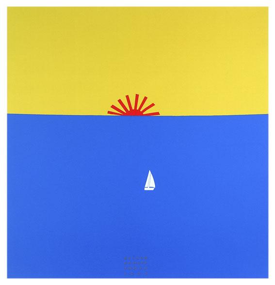 Sea Sunrise,  1990. Acrylic on fabric.