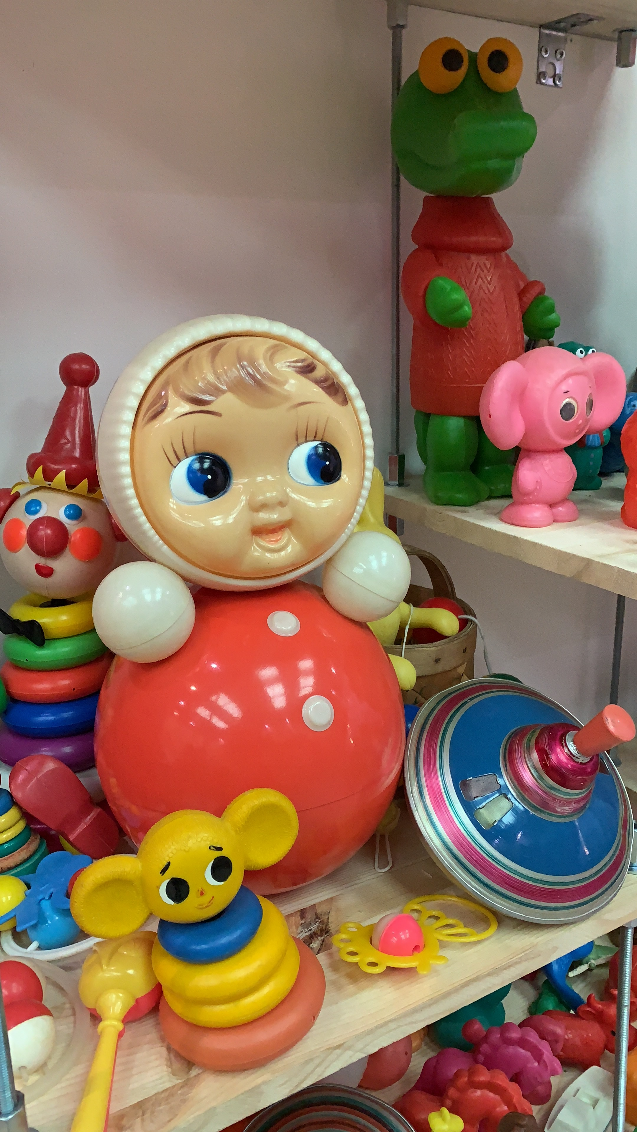 Nevalyashka - a sort of Soviet weeble - among other Soviet toys. Image credit: Museum of Soviet Childhood