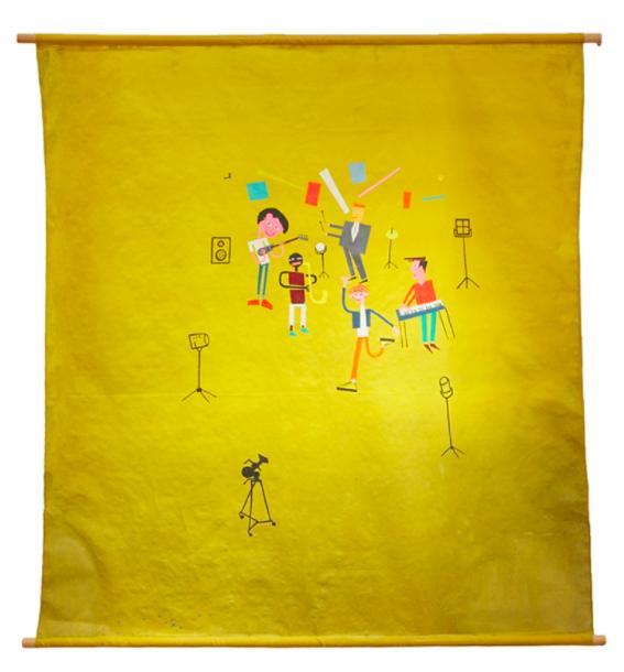ASSA , 1987. Acrylic on cloth (photographer's backdrop).