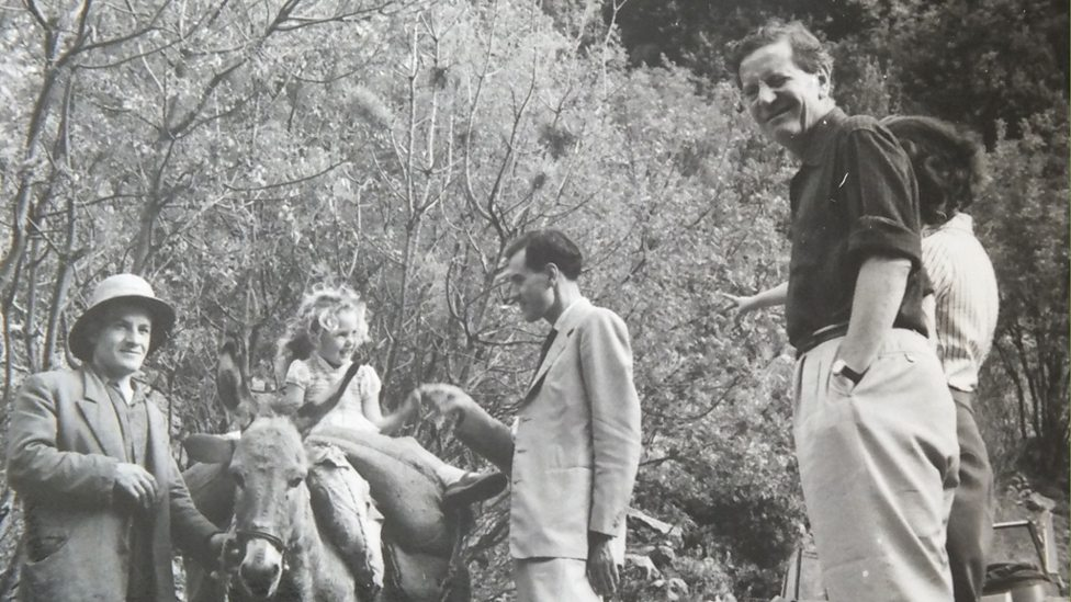 Kim Philby with his family in Lebanon