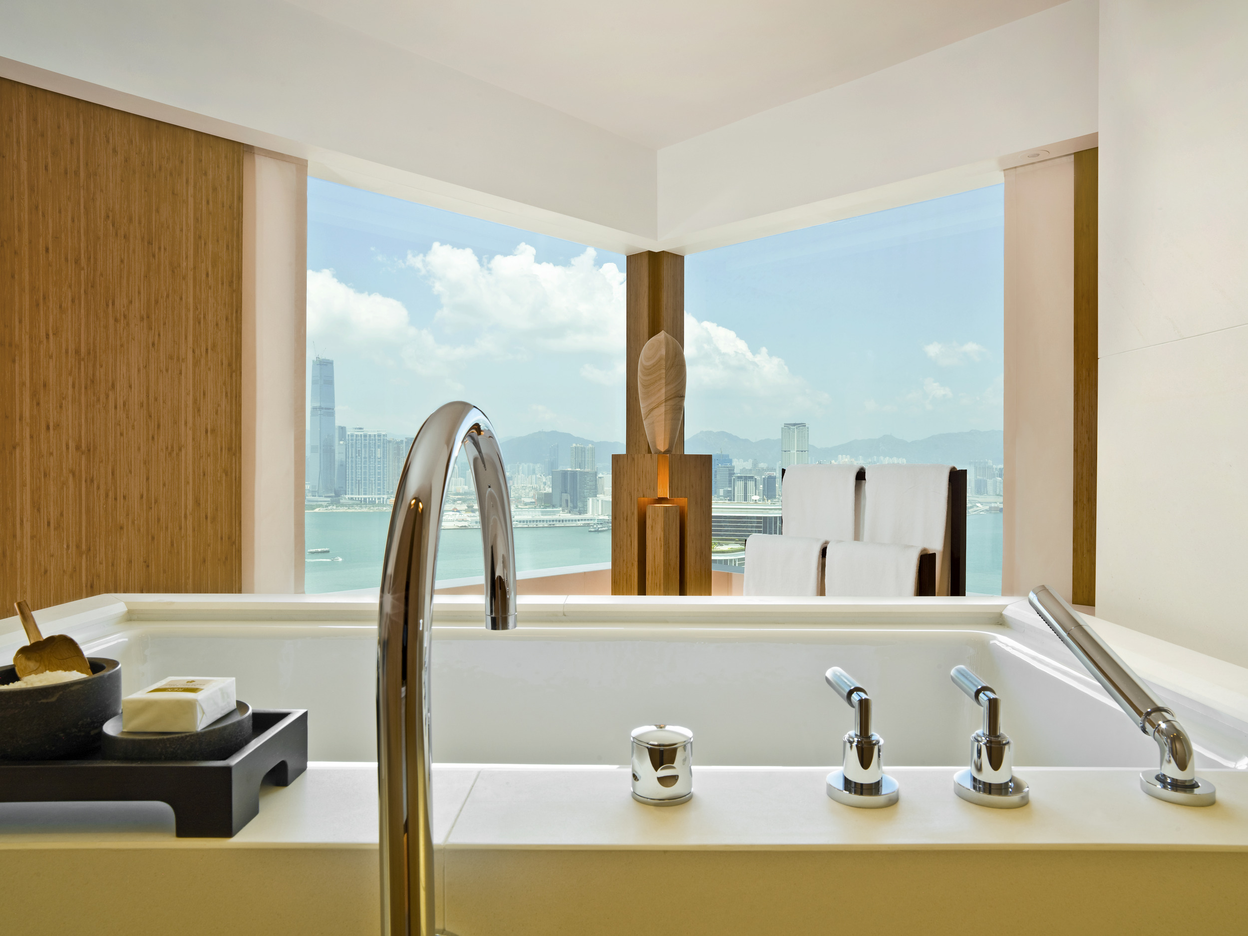 View from the bath