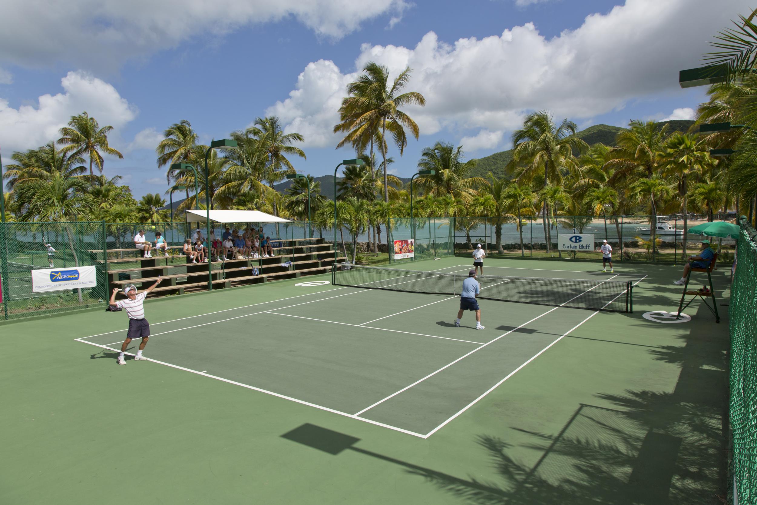 Tennis at Curtain Bluff