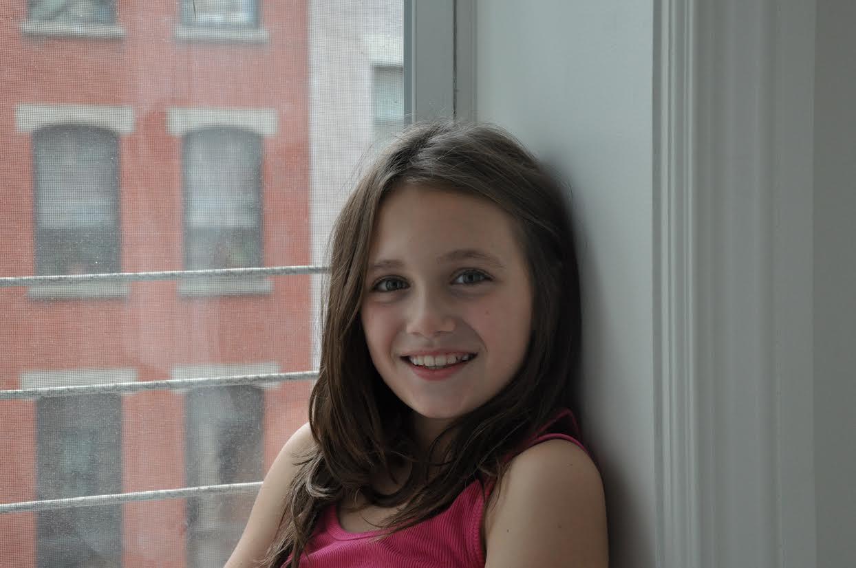 Feather+Flip's first junior correspondent, Maya Olson.