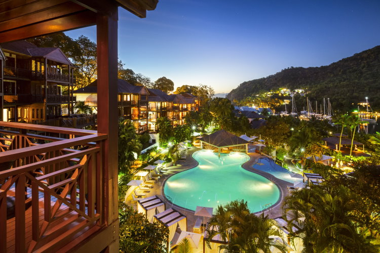 Capella Marigot Bay Pool view night.jpg
