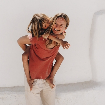 Over the Ocean founder, Birgit Sfat, with daughter Milla