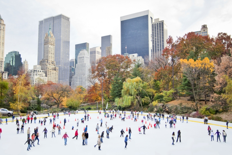 Ice skating at Wollman Rink, Central Park