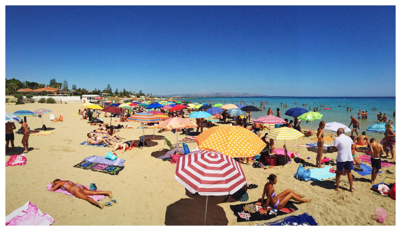 The beach in Sicily.